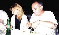 Eliane, com o amigo Barrão.