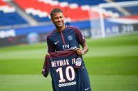 TOPSHOT - Brazilian superstar Neymar pos