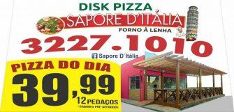 ESPAÇO DA PIZZA – Página da Sapore D' Itália