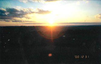 RARIDADE: o último por do sol do milênio passado