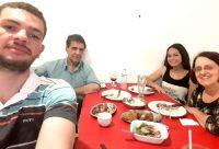 Jantar comemorativo na cantina Dom Pepe
