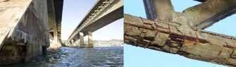 PERIGO Á VISTA – Ferragens expostas na Ponte Pedro Ivo Campos