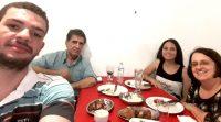 Jantar comemorativo na cantina Dom Pepe.