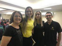 Encontro de gerentes:Edy,Letícia,Erica e Celia