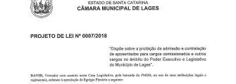LEI PRETENDE PROIBIR NOMEAÇÃO DE APOSENTADOS – Se sancionada, limita espaço de Executivo e Legislativo
