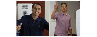 SUCESSÃO PRESIDENCIAL – Bolsonaro e Haddad no 2º turno