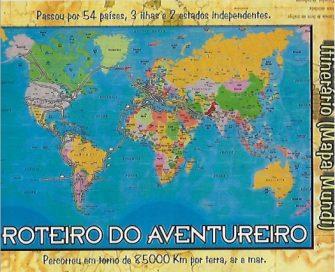 O AVENTUREIRO ESTÁ NA SEGUNDA EDIÇÃO – Lageano conta em livro sua volta ao mundo de lambreta.