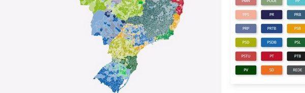 Mapa votos governador