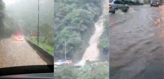 FÚRIA DA NATUREZA NA SERRA DO RIO DO RASTRO – Drenagem, galerias e canais da estrada não suportaram volume da água pluvial.