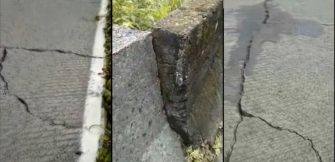 ESTRADA DA SERRA DO RIO DO RASTRO EM PERIGO –  Rachaduras e desnivelamento do pavimento podem comprometer a travessia.