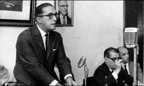 Carlos Lacerda em reunião da UDN