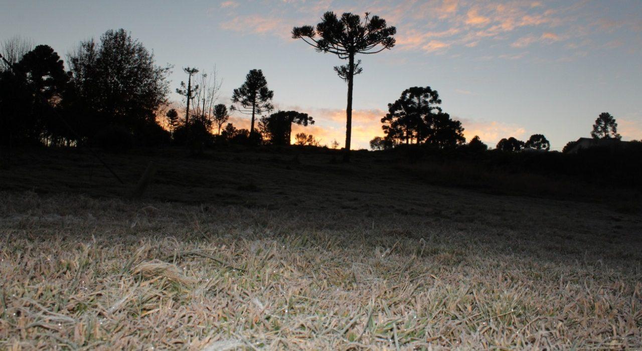 FRIO CHEGOU ÀS SERRAS GAÚCHA E CATARINENSE – Nos pontos mais altos já está abaixo de zeroºC. – Urupema/SC virou quase um freezer no Morro das Torres. Pode nevar lá hoje.