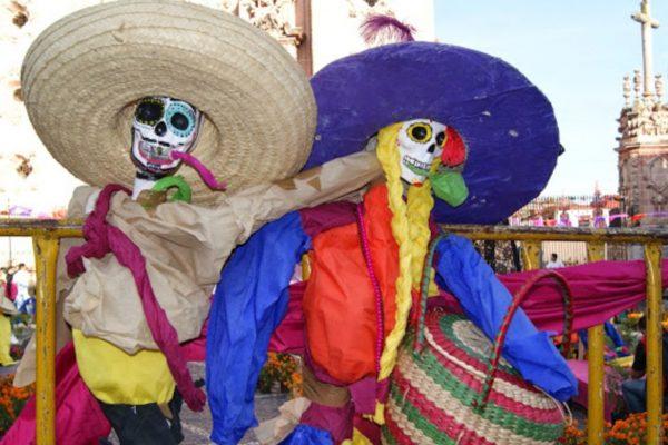 21/11/2014- Caveiras em Taxco, estado de Guerrero, usadas na celebração do Dia dos Mortos (Leandra Felipe/Agência Brasil)