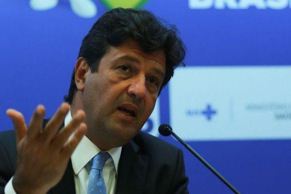 O ministro da Saúde, Luiz Henrique Mandetta, durante lançamento da Campanha de Vacinação contra o Sarampo